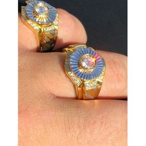 Harlembling 14k Gold 925 Silver Diamond Ring